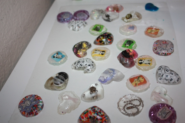 (some) of my resin charms